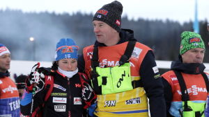 Krista Pärmäkoski och Matti Haavisto.