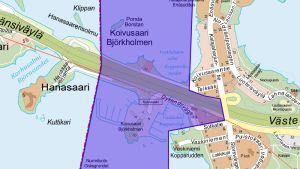 Karta på Björkholmen