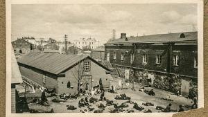 Fångar på Sveaborg 1918.