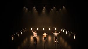 teaterscen med gruppen Oblivia