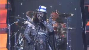 Lordi esiinty Euroviisujen semifinaalissa.