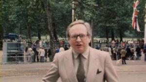 Toimittaja Erkki Toivanen Lontoossa 1981.