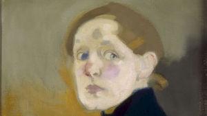 Helene Schjerfbecks målning Självporträtt (1912)