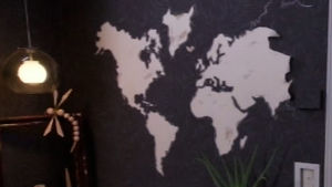 världskarta som tapet