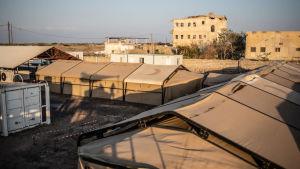 Läkare utan gränsers tältsjukhus i Mocka, Jemen.