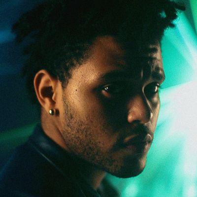 Närbild på The Weeknd