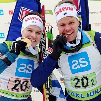 Jenni Keränen och Jaakko Ranta, junior-EM 2018.