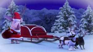 Olivia-possu joulupukkina