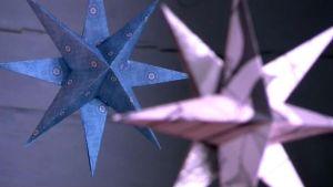 Julstjärnor i papper