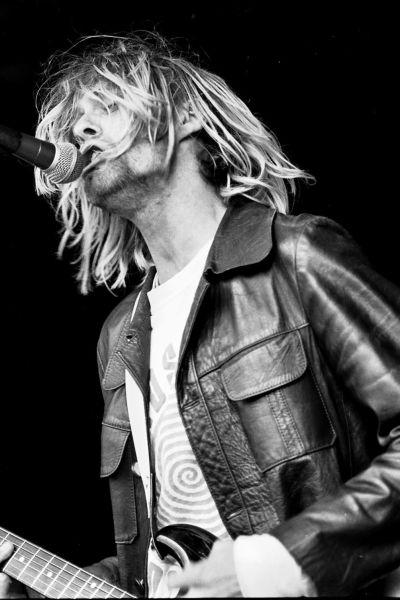 Kurt Cobain live på Reading-festivalen 1991.