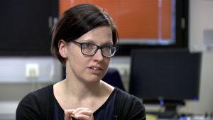 Riina Sarkanen haastattelukuvassa