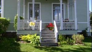 Kopierad veranda i Kristinestad