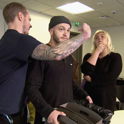 Reunalla-sarjan Kia Pieniä ihmeitä -draaman kuvauksissa.