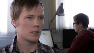 Aaro Salminen haastattelukuvassa