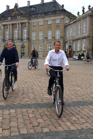 Lars Lokke Rasmussen och Emmanuel Macron