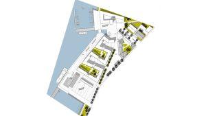 Planritning för Norra kajens bostäder i Port 19