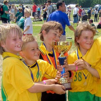 Sjundeå F-pojkar tog guld i Sjundeå cup
