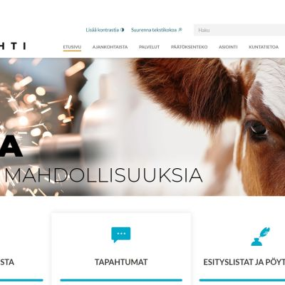 Lapinlahden kunta uudisti verkkosivunsa heinäkuun alussa 2019.