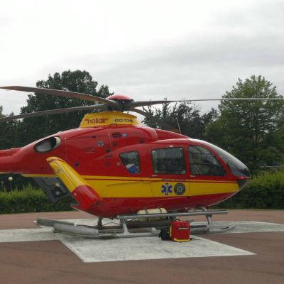 Ambulanshelikopter på Åland