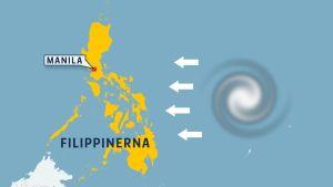 Ett tjugotal tyfoner drar varje år över Filippinerna.