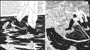 På bilden syns en sida ur Edith Hammars seriebok.