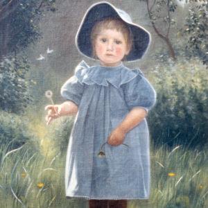 Frida Packaléns målning, konstnär är hennes morfar Torsten Tawastjerna, som målat sin tvåårige son Lennart 1904.