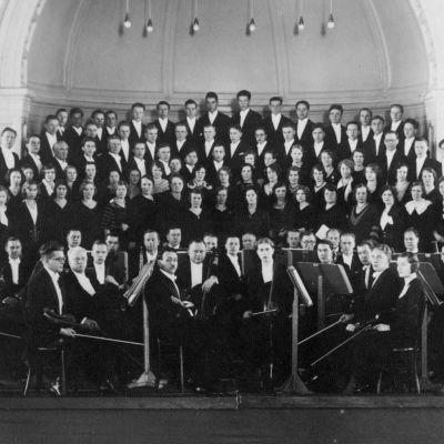 Viipurin Musiikin Ystäväin Orkesteri 1920-luvulla.