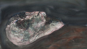 henry wuorila-stenbergs målning i en serie av huvuden som han målat under två års tid.