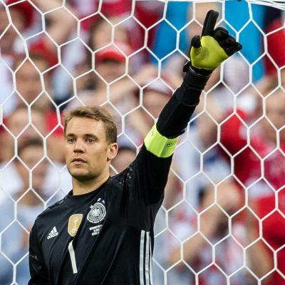 Manuel Neuer har ännu inte fått känna på att släppa in mål i EM i Frankrike.