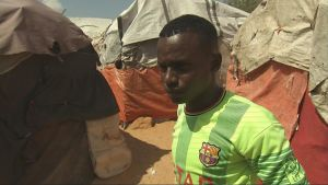 somalisk flyktingpojke i mogadishu