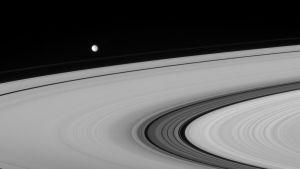 Saturnus ringar och månar.