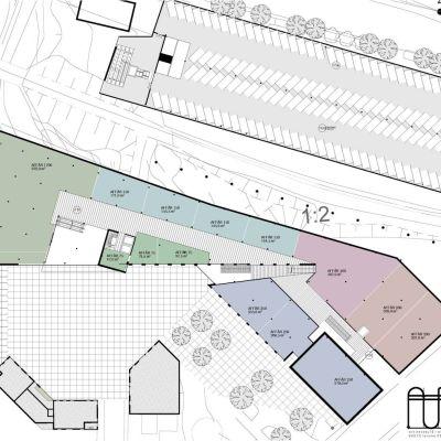 Plan 2, affärskomplexet