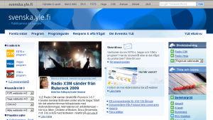 svenska.yle.fi 2009 skärmdump