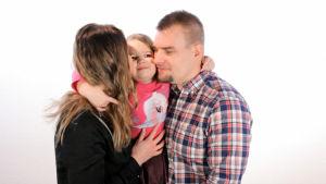 Katja, Sanni ja Erkki Savilakso