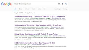 Skärmdump av Googlesökning