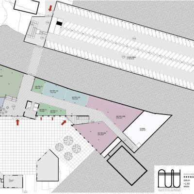 Plan 1, affärskomplexet