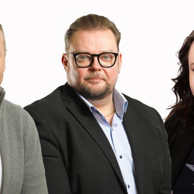 Pekka Tiitinen, Marko Varajärvi ja Johanna Ojala-Niemelä