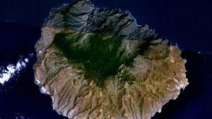 Gomeran saari avaruudesta kuvattuna