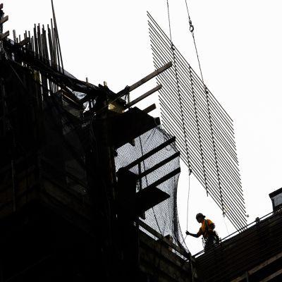 Rakennustyömaa New Yorkissa.