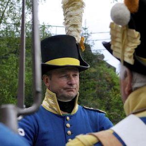 Kapten Göran Backman ger order
