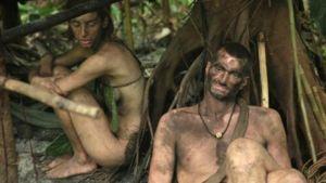 Skärmdump ur tv-serien Naked and afraid
