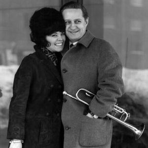 Ann Christine Nyström och Ossi Runne efter segern i de finländska uttagningarna 1966