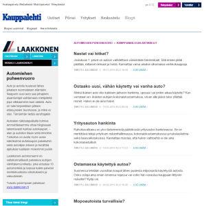 Kuvakaappaus Kauppalehden verkkosivulta.