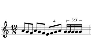 Kvartoli ja kvintoli kolmijakoisessa ympäristössä. Vain Orkesterikoneessa käytettäväksi.