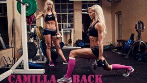 Camilla Back tränar fitness