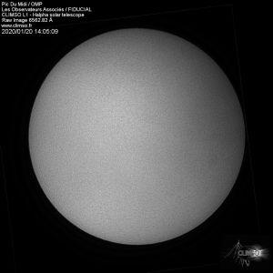 Aurinko kuvattuna 20.1.2020