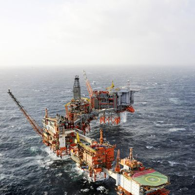 Valhall-öljynporauslautta.