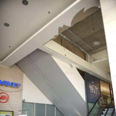 Sokoksen romahtanut katto.