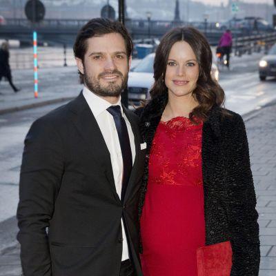 Carl Philip ja Sofia kuvattuna helmikuussa.