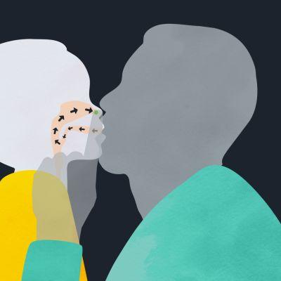 Grafiikka suukotusmenetelmästä.